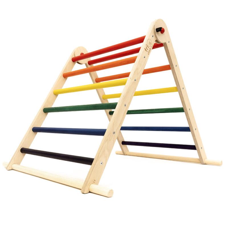 Triclimb pikler triangle rainbow
